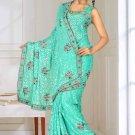 Indian Bollywood Designer Saree Embroidered Sari - TU5946