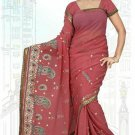 Indian Bollywood Designer Saree Embroidered Sari - TU5909