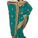 Indian Bollywood Designer Saree Embroidered Sari - TU5888C