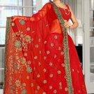 Indian Bollywood Designer Saree Embroidered Sari - TU5872