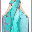 Indian Bollywood Designer Saree Embroidered Sari - TU5862