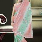 Indian Bollywood Designer Saree Embroidered Sari - TU554 -1