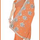 Indian Bollywood Designer Saree Embroidered Sari - TU5971