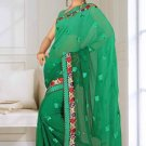 Indian Bollywood Designer Saree Embroidered Sari - TU5947