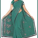 Indian Bollywood Designer Saree Embroidered Sari - TU5936