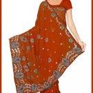 Indian Bollywood Designer Saree Embroidered Sari - TU5934