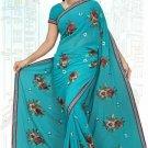 Indian Bollywood Designer Saree Embroidered Sari - TU5893