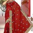 Indian Bollywood Designer Saree Embroidered Sari - TU5888
