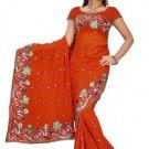 Indian Bollywood Designer Saree Embroidered Sari - TU5865A