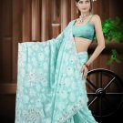 Indian Bollywood Designer Saree Embroidered Sari - TU549 -1