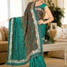 Indian Bollywood Designer Saree Embroidered Sari - TU5958