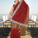 Indian Bollywood Designer Saree Embroidered Sari - TU5954