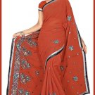 Indian Bollywood Designer Saree Embroidered Sari - TU5938
