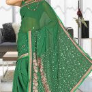 Indian Bollywood Designer Saree Embroidered Sari - TU5891
