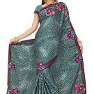 Indian Bollywood Designer Saree Embroidered Sari - TU5861C