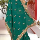 Indian Bollywood Designer Saree Embroidered Sari - TU5890