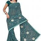 Indian Bollywood Designer Saree Embroidered Sari - TU481