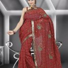 Indian Bollywood Designer Saree Embroidered Sari - TU478 -1