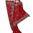 Indian Bollywood Designer Saree Embroidered Sari - TU477