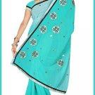 Indian Bollywood Designer Saree Embroidered Sari - TU5952