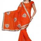Indian Bollywood Designer Saree Embroidered Sari - TU475