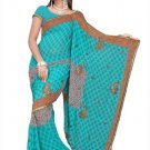 Indian Bollywood Designer Saree Embroidered Sari - TU468