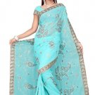 Indian Bollywood Designer Saree Embroidered Sari - TU431