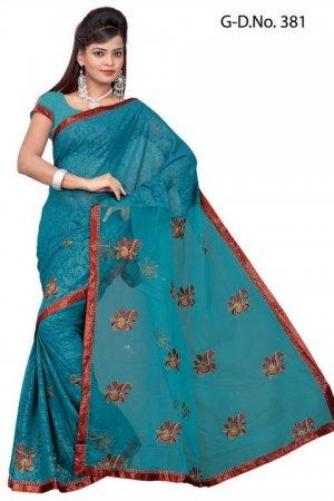 Indian Bollywood Designer Saree Embroidered Sari - TU381