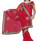Indian Bollywood Designer Saree Embroidered Sari - TU380