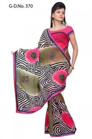 Indian Bollywood Designer Saree Embroidered Sari - TU370