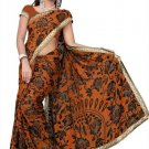 Indian Bollywood Designer Saree Embroidered Sari - TU364