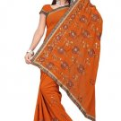 Indian Bollywood Designer Saree Embroidered Sari - TU372