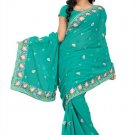 Indian Bollywood Designer Saree Embroidered Sari - TU197