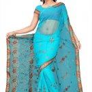 Indian Bollywood Designer Saree Embroidered Sari - TU194