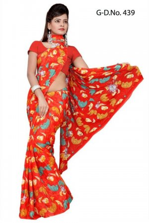 Indian Bollywood Designer Saree Embroidered Sari - TU439