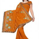 Indian Bollywood Designer Saree Embroidered Sari - TU391