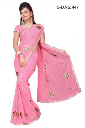 Indian Bollywood Designer Saree Embroidered Sari - TU447