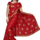 Indian Bollywood Designer Saree Embroidered Sari - TU410