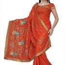 Indian Bollywood Designer Saree Embroidered Sari - TU397