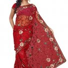 Indian Bollywood Designer Saree Embroidered Sari - TU132A