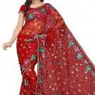 Indian Bollywood Designer Saree Embroidered Sari - TU110C