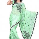 Indian Bollywood Designer Saree Embroidered Sari - TU111A