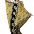 Indian Bollywood Designer Saree Embroidered Sari - TU451