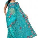 Indian Bollywood Designer Saree Embroidered Sari - TU110A