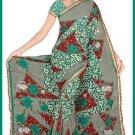 Indian Bollywood Designer Embroidered Saree Sari - Tu6347