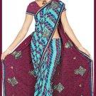Indian Bollywood Designer Embroidered Saree Sari - Tu6315