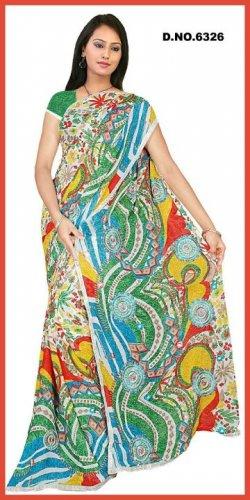 Indian Bollywood Designer Embroidered Saree Sari - Tu6326