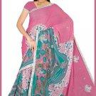Indian Bollywood Designer Embroidered Saree Sari - Tu6351