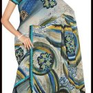 Indian Bollywood Designer Embroidered Saree Sari - Tu6224