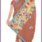 Indian Bollywood Designer Embroidered Saree Sari - Tu6333